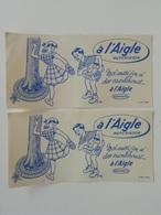 2 Buvards Publicitaire Anciens à L'aigle Hutchinson Illustré Par Guion - Sport