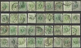 9Ab-918: Restje 36 Zegels: N° 26:  Veel Drukwerkstempels  Diverse ... Verder Uit Te Zoeken.. - 1869-1888 Lion Couché