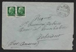 DA MONTE GUIDUCCIO A FABRIANO - 24.10.1929. - 1900-44 Vittorio Emanuele III