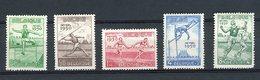 BELGIQUE 1950 Championnats D'Europe D'athlétisme. Série Complète N° 827 à 831 ** (MNH) Cote 87.5 € - Neufs