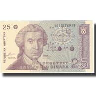 Billet, Croatie, 25 Dinara, 1991, 1991-10-08, KM:19a, SPL+ - Croatia