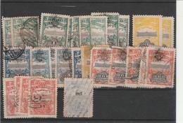 Accumulation Of 1907 El Salvador Used & Unused + 2 Officials Few Toned Perfs - El Salvador