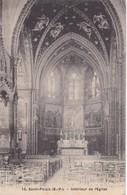 SAINT PALAIS, INTERIEUR DE L'EGLISE. EDIF BOIS BARTHABURU. CIRCULEE 1908 A BIDARD TIMBRE A PAIR - BLEUP - Saint Palais