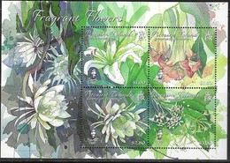 PITCAIRN ISLAND, 2019, MNH, FRAGRANT FLOWERS, SCENTED SHEETLET - Végétaux