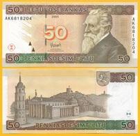 Lithuania 50 Litu P-67 2003 UNC - Lithuania
