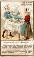 CHROMO CHOCOLAT POULAIN  DESSOUS DE PLAT IMPROVISE - Poulain