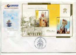 HOMENAJE A S.S. JUAN PABLO II. ARGENTINA 2005 SOBRE PRIMER DIA, ENVELOPE FDC - LILHU - Papas