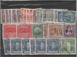 Accumulation Of Middle  Issues El Salvador 1924/32/38/47 Used Few Toned Perfs - El Salvador