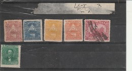 5 Odd Stamps Nicaragua + 1 Honduras Used & Unused - Nicaragua
