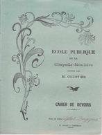 86 - PROTEGE-CAHIER - ECOLE DE LA CHAPELLE MOULIERE - CAHIER DE DEVOIRS - Protège-cahiers