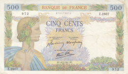 Billet 500 F La Paix Du 8-5-1941 FAY 32.16 Alph. Z.2807 - 1871-1952 Gedurende De XXste In Omloop