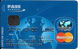 -CARTE+-PUCE-MAGNETIQUE-CB-BANQUE PASS-MASTERCARD-Exp0/13-OBERTHUR 01-10/08-TBE-RARE - France