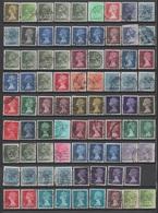 """Grande Bretagne, Lot De Plus De 300 Timbres Au Type """"Machin"""", Pour étude (voir Description Détaillée) - 1952-.... (Elisabeth II.)"""