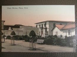 Antique Tarjeta Postal - Peru Perou - Plaza Merino - Piura - Librería Ramos Montero - Peru