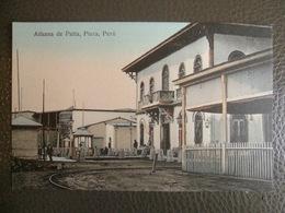 Antique Tarjeta Postal - Peru Perou - Aduana De Paita - Piura - Librería Ramos Montero - Railroad Rail Chemin De Fer - Pérou