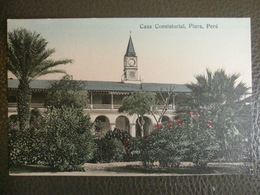 Antique Tarjeta Postal - Peru Perou - Casa Consistorial - Piura - Librería Ramos Montero - Pérou