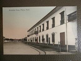 Antique Tarjeta Postal - Peru Perou - Avenida Grau - Piura - Librería Ramos Montero - Peru