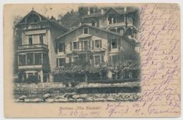 Montreux Villa Elisabeth - Mit Einzeiler Balkenstempel - VD Vaud