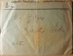 Jadranska Plovidba D.d. Susak Fiume 1936.  Envelove & Bill Croatia - Reiseprospekte