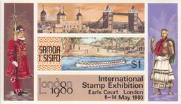 1980 Samoa London Canoe   Souvenir Sheet MNH - Samoa