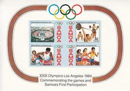 1984 Samoa Olympics Boxing   Souvenir Sheet MNH - Samoa
