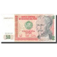 Billet, Pérou, 100 Soles, 1987, 1987-06-26, KM:79c, SPL+ - Pérou