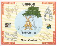 1996 Samoa Moon Festival China Souvenir Sheet MNH - Samoa