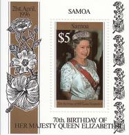 1996 Samoa QEII Birthday Souvenir Sheet MNH - Samoa