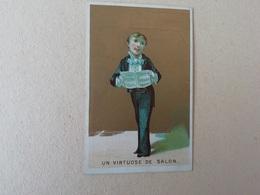 Menu Ancien Chromo 39 ème Sainte Cécile Chorale Annecy Virtuose De Salon 1896 - Menus