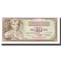 Billet, Yougoslavie, 10 Dinara, 1978, 1978-08-12, KM:87a, SUP+ - Yougoslavie