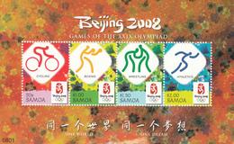 2008 Samoa Beijing Olympics Souvenir Sheet MNH - Samoa