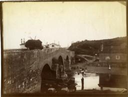 France Pays Basque Ciboure Pont De La Socoa Sur L'Untxin Ancienne Photo 1880 - Ancianas (antes De 1900)