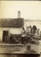 France Pays Basque Ciboure Enfants Au Pont De La Socoa Sur L'Untxin Ancienne Photo 1880 - Alte (vor 1900)