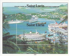 1991 St. Lucia Cruise Ships  Souvenir Sheet MNH - St.Lucia (1979-...)