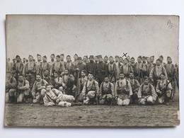 Foto Photo AK Militair Soldats Francais Uniform Gewehr Waffen - Guerre 1914-18