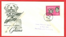 Ghana, Anc. : Gold Coast; Timbre Scott # 66 Premier Jour / First Day Cover (0339) - Ghana (1957-...)