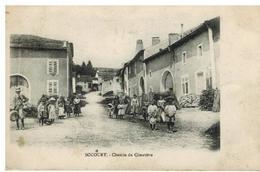 Socourt: Chemin Du Cimetière, Belle Animation, Rare - Autres Communes