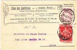 Portugal - De Figueira Da Foz Para O Porto Em 1922 - Portugal