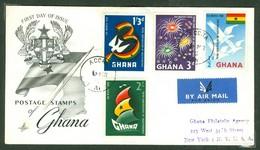 Ghana, Anc. : Gold Coast; Timbre Scott # 71 - 74. Premier Jour / First Day Cover (0342) - Ghana (1957-...)