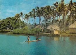 FIJI - A River And Village Scene - Fiji