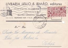 Portugal  Circulou Do Porto  Em    1946 - Lisboa
