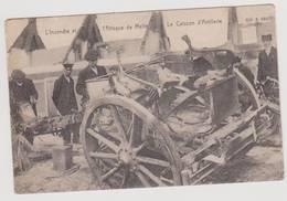 40826 -   L'incendie  Et  L'attaque De Melle - Le Caisson D'  Artillerie Qui A Sauté -  Militaria - Melle