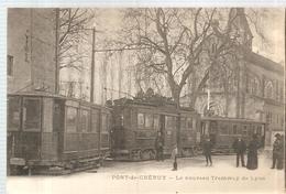 CPA Pont De Chéruy (38) Le Nouveau Tramway De Lyon écrite En 1917? - Pont-de-Chéruy