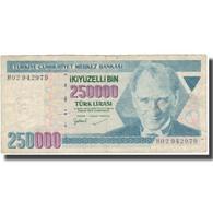 Billet, Turquie, 250,000 Lira, L.1970, 1998, KM:211, TB - Turquie