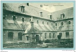 """Le Roeulx """" Cloître De L'hospice """"  Voyagé Vers France 1923 Avec Pub. Chocolat Cosmopolite - Le Roeulx"""