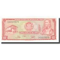 Billet, Pérou, 10 Soles De Oro, 1976, 1976-11-17, KM:93a, NEUF - Peru