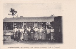 POINTIS INARD. LA TANNERIE PICHELOUP, PARTIE DU PERSONAL. CLICHE PABLO. VINTAGE FOLK PEOPLEL WORKERS CPA 1900s - BLEUP - Non Classés