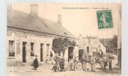 CPA Fontaine En Beauce (41) Route De Savigny (animée) écrite En 1907? - Francia