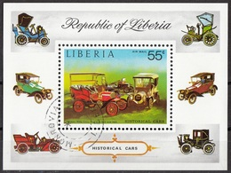 Liberia 1973 Sc. C199 Historical  Cars Franklin 10 НР Sheet Perf. CTO - Automobili