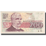 Billet, Bulgarie, 200 Leva, 1992, 1992, KM:103a, SPL - Bulgarie